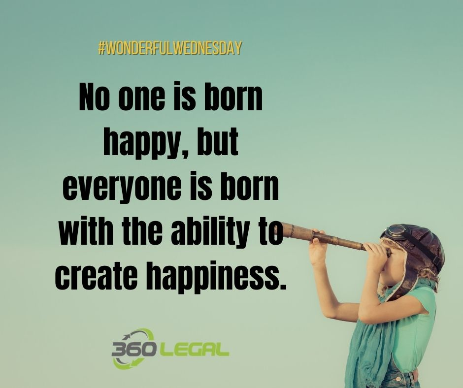 Wonderful Wednesday – No One is Born Happy